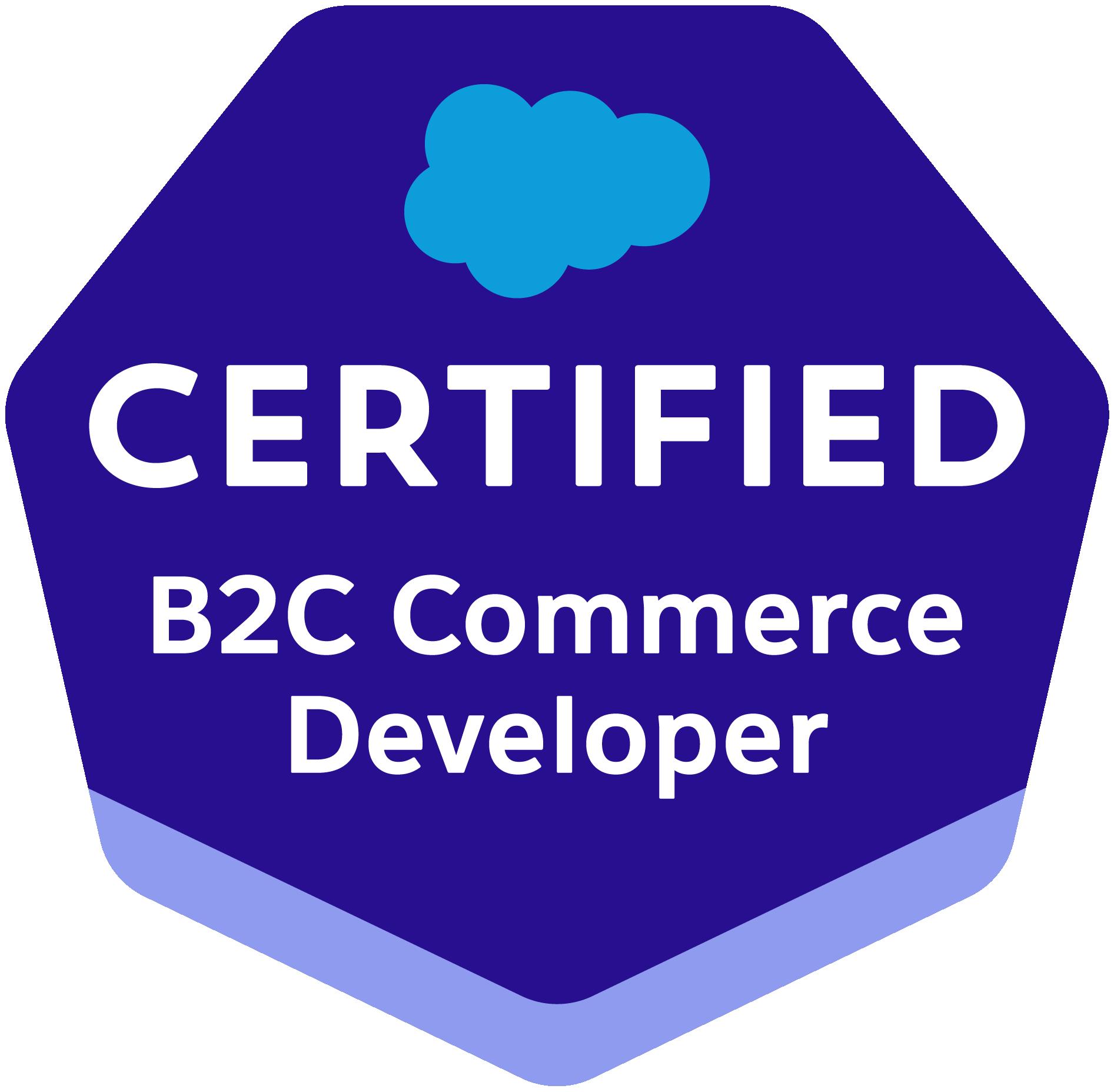 Certified B2C Commerce Developer